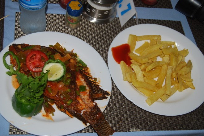 My first meal in Mwanza