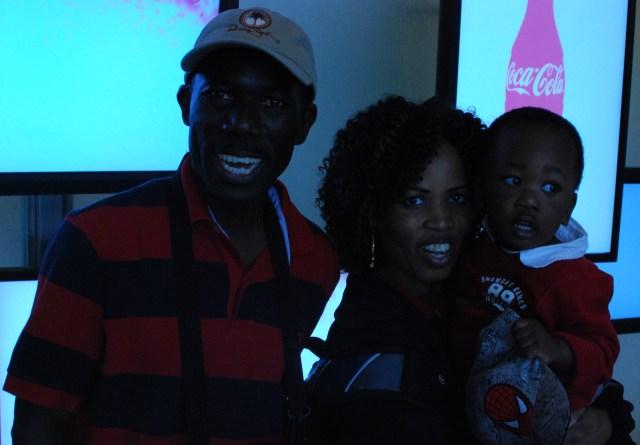 Mr and Mrs Josephat Mboyi and Jonathan