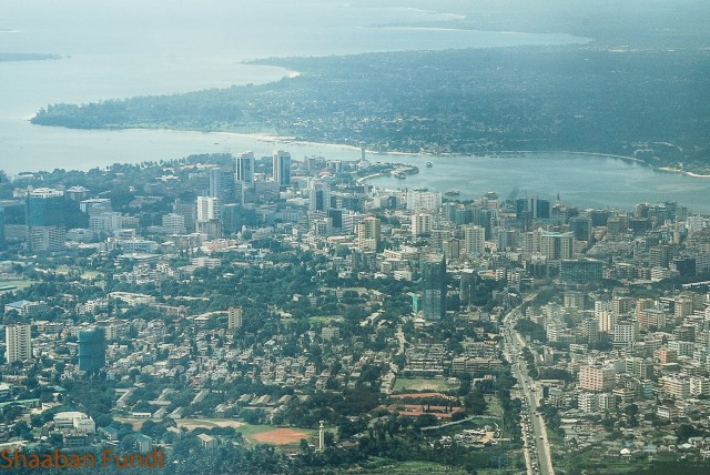 The View as you Land in Dar Es Salaam