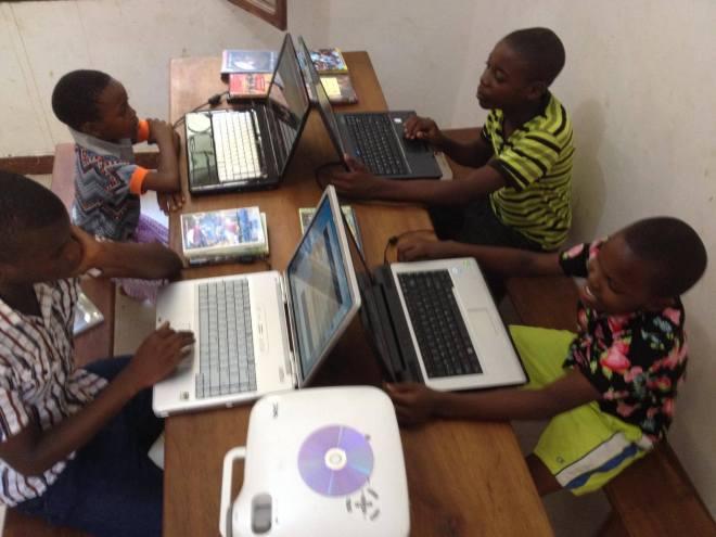 Kibogoji experiential learning center's media room